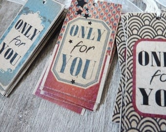 "18 cards, tags, ""only for you"" card stock paper"