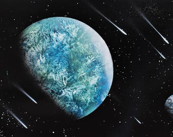 Blue Planet Spray Painting