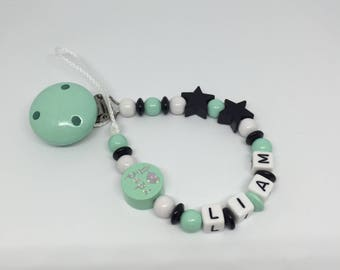 """Pacifier """"I love Daddy - I love Mommy"""" to customize"""