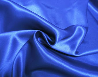 Fabric 100% polyester - 140 X 120 cm Royal Blue Duchess satin
