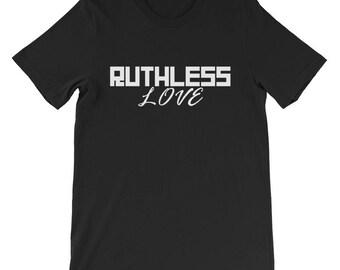 Ruthless Love Men's short sleeve t-shirt, men's t-shirt, black t-shirt, graphic t-shirt, relationship t-shirt