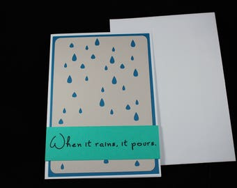 Big Drink, Little Umbrella Card | Encouragement | Greeting Card | Sorry | Get Well | Thinking of You | Friend