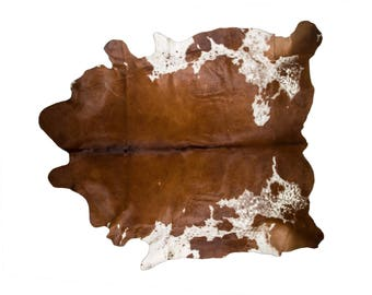 """Luxury European Natural Cowhide Rug, Hair-On-Hide Genuine Bovine Leather, Hand Tanned in Europe, Superior Quality, Copper Gray, 7'0"""" x 7'3"""""""