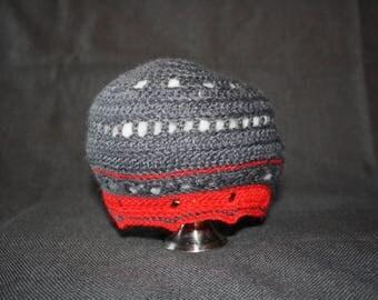 crochet baby acrylic gray Beanie