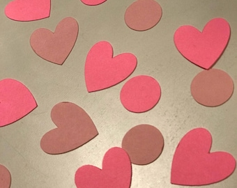 Heart confetti Table Confetti  or Card Confetti- ANY COLOR, you pick! Birthday Party - Bridal Shower - Princess Party