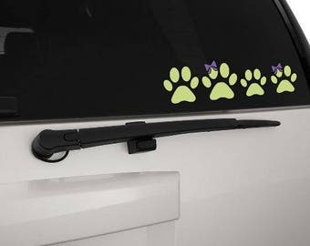Family car stickers, paw print stickers,  Family car decals, decals for cars, car window sticker, vinyl car stickers- FREE SHIPPING
