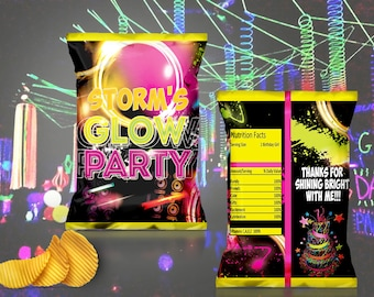 Glow Party Chip Bag Digital File