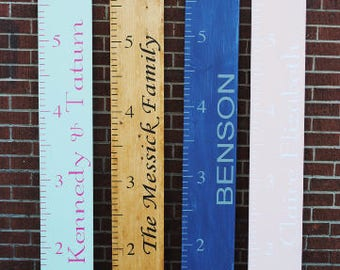 Personalized Growth Chart for Children or Family Vinyl Decal
