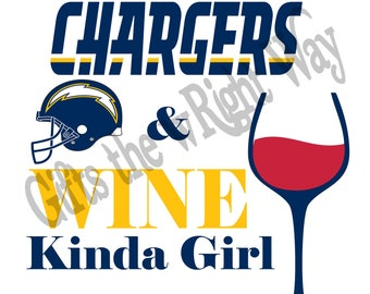 Chargers and Wine SVG