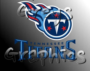 Tennessee Titans Primary Logo with Logotype Full Color - SVG - DXF - EPS - Vectors