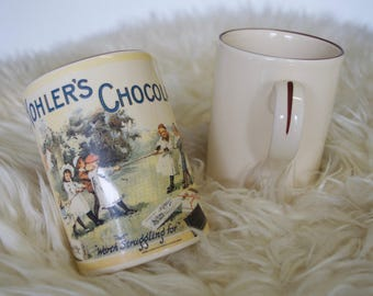 Vintage chocolate mugs