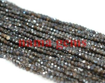 13 pouces 2-2,25 mm AAA Labradorite enduit pierres précieuses Rondelle Micro perles à facettes en bijoux, Pierre Semi précieuse, gemme grossiste