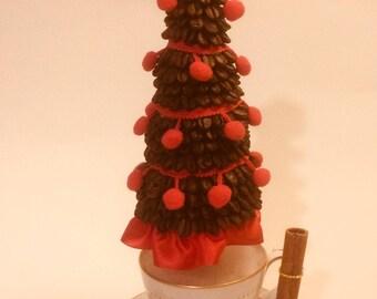 Christmas coffee topiary tree