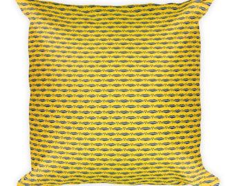 Namata African Inspired Wax Print Square Pillow