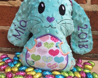 Personalised Floppy Eared Easter Stuffed Bunny