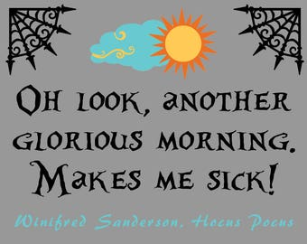 Oh look, another glorious morning. Makes me sick!