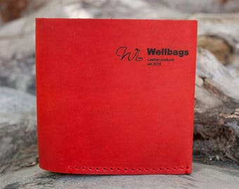 Bifold wallet Natural leather Porte-monnaie Handmade wallet Gift Slim leather Women Minimalist Leather Wallet