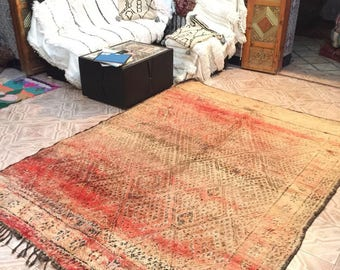 Zayan vintage moroccan carpet,270x205cm, Moroccan carpet, wool rug, Zayan rug, vintage carpet, berber textiles, berber carpet,