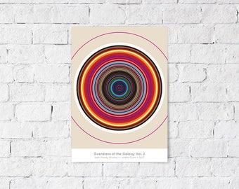 Guardians of the Galaxy: Vol 2 • James Gunn • 2017 - Abstract Art Print A3/A4