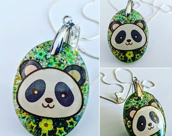 Kawaii panda necklace