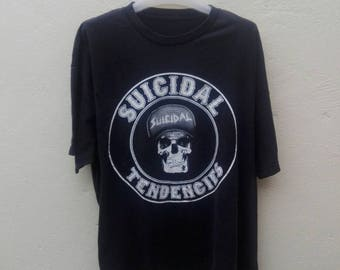 suicidal tendencies band XL size skull wearing cap rare