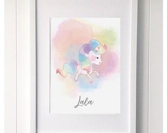 Unicorn 'Lala' print