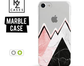 Marble Phone Case, Geometric, Mountain Case, Marble, iPhone 7 Case, iPhone 6 Case, iPhone 7 Plus, iPhone 6 plus, Samsung Galaxy Phone Case