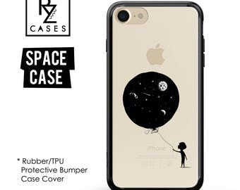 Balloon Phone Case, Space Phone Case, Mystic, Stars, Kid, World, iPhone 7, Gift for Her, iPhone 7 Plus, iPhone 6S, Rubber, Bumper