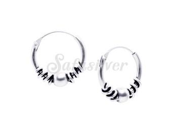 Hoops Earring,Cartilage Hoops Earrings,Silver Bali Hoops Earring