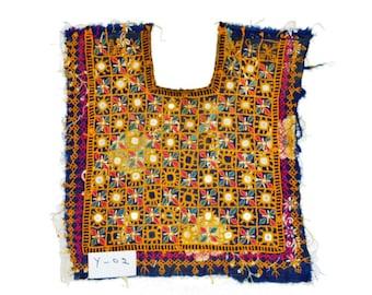 Vintage Neck Yoke Embroidery Applique vintage Kutch Patch