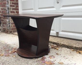 Wooden side table Etsy