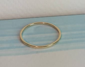 Dainty stacking ring - 2mm width - gold plated