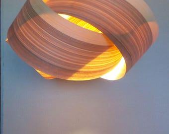 Pendant Lamp - Wood Chandelie - Wooden Lamp - Natural Wood Art - Veneer Lamps