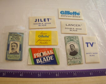 LOT vintage collectible safety razor blades NOS Gillette some scarce !!