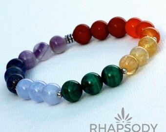 Minimalist Chakra Bracelets - Yoga Bracelet - Healing Bracelets- Gemstone Beaded Bracelet - Healing Stone Bracelet