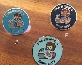 Working Mom Enamel Pin, Motherhood Enamel Pin, Enamel Pin for Mom, Mompreneur Pin, Motherhood Accessory, Mom Flair