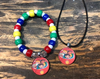 Little Einsteins party favors.Little Einsteins bracelet.Little Einsteins pendant necklace.Little Einsteins gift set