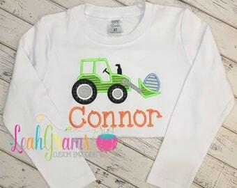 Easter Egg Tractor Applique Shirt