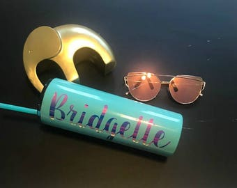 Personalized Gift, Holographic Tumbler Decal, Decal Only, Personalize Decal, Holographic, Fun Gift,