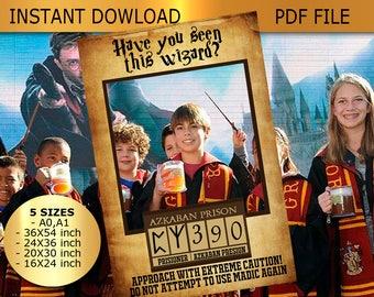 Harry potter prop,Potter photo prop,harry potter frame,Harry Potter Print,Harry Potter Gift,wizard party prop,potter photo booth,Prisoner