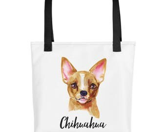 Chihuahua Dog Tote bag, Gift for Chihuahua Dog Lover