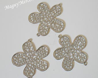 Separators flowers spacer silverplate set of 3