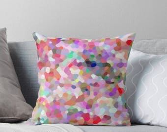 Mosaic Rainbow cushion