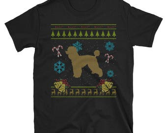 Poodle Toy Poodle Standard Poodle Xmas Christmas Ugly Holiday Sweater Shirt Gift