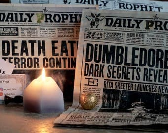 THE DAILY PROPHET - the newspaper of Joanne K Rowlings magical Harry Potter world