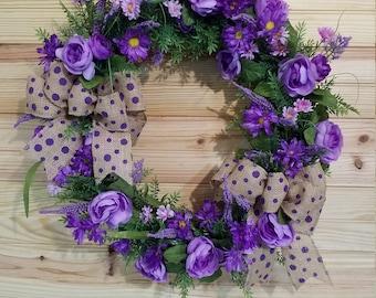 Purple Spring Wreath