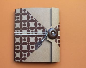 Kraft notebook and Brown