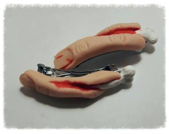 Severed finger hair clips