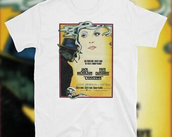 Chinatown Movie T Shirt 1974 Poster Artwork Jack Nicholson Faye Dunaway Roman Polanski Classic Film Cinema