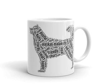 I Love My Alaskan Malamute Dog Mug